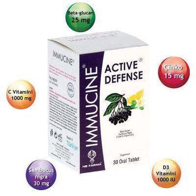 HB Farma Ürünleri - Immucine Active Defense Tablet 30 luk