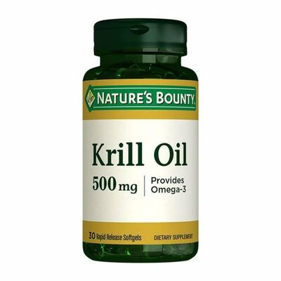 Natures Bounty Ürünleri - Natures Bounty Krill Oil 500mg 30 Soft Gel Kapsül