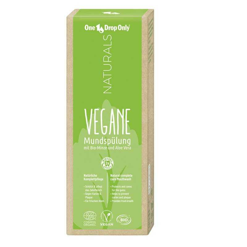 One Drop Only Naturals Vegane Mundspülung - Vegan Ağız Çalkalama Suyu 500ml