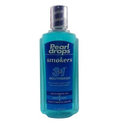 Pearl Drops & Smokers - Pearl Drops Smokers 3 in 1 Mouthwash 400ml - Ağız Çalkalama Suyu